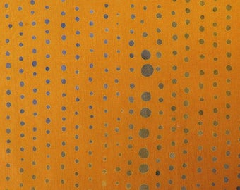 1/2 Yard Chroma Handcrafted Batik Pinpoint in Gold from Andover designed by Alison Glass 8131-Y