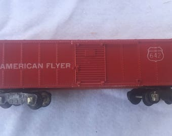 Vintage Mid-Century American Flyer S-Scale 642 Red Box Car