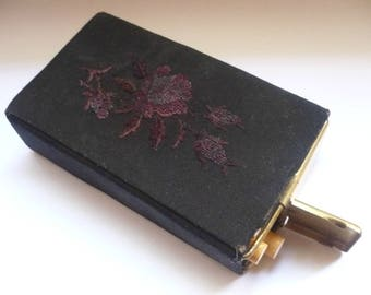 Vintage black Cigarette Case