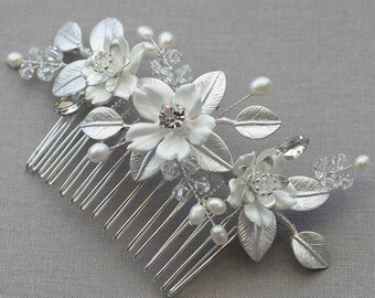 FAITH | Bridal comb, Wedding Accessories, Bridal Headpiece, Wedding headpiece, Pearl and crystal Headpiece, Bridal Hair Jewelry