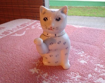 Small White Porcelain Cat Teapot Kitty #2