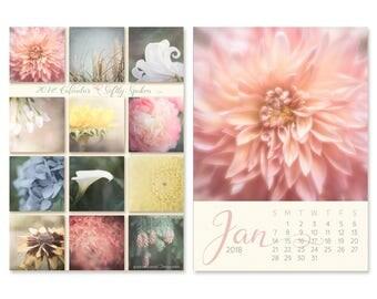 Gifts Under 30 - 2018 Desk Calendar - Flower Photography Calendar - With or Without Easel - 5x7 Flower Photo Calendar - Home Office Decor