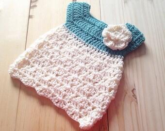 Baby girl dress, crochet baby dress, flower baby dress, newborn baby dress, newborn girl dress, newborn girl gift, girl shower gift