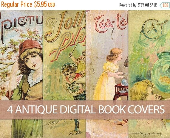Old Book Covers For Sale ~ Off sale digital vintage book covers instant download