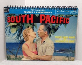 South Pacific Soundtrack Album Cover Notebook Handmade Spiral Journal Blank Composition Book Musical, Rogers & Hammerstein