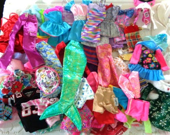 Barbie Doll Clothes - 61 Pieces of Clothes - All Genuine Barbie Clothes With Barbie Tags on Them