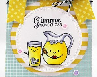 "Lemonade pitcher ""Gimme some sugar"" card"