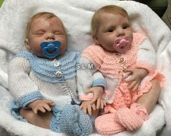 REBORN TWINS (sculpt by Donna Rubert)