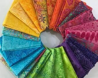 Batik Fat Quarter Bundle (24 fat quarters)