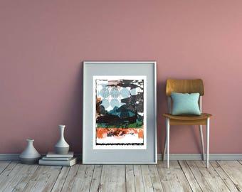 Giclee Top of the Lake Art Print. Abstract Fine Art Print