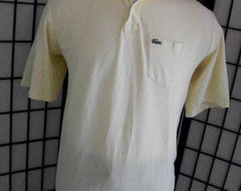 IZOD Lacoste alligator yellow preppy adult cotton polo shirt xlt