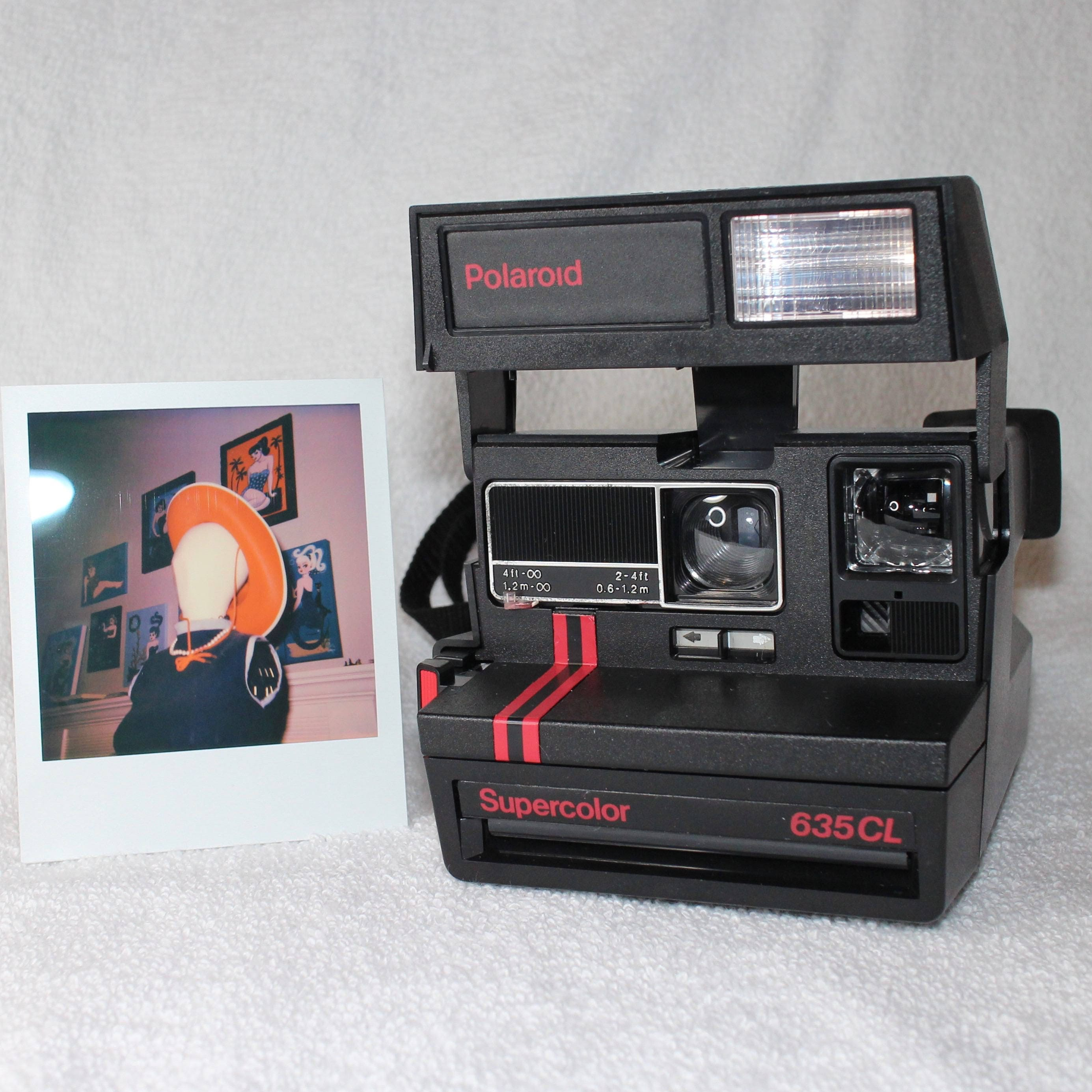 original dual stripe polaroid supercolor 635 cl works great tested and cleaned includes close. Black Bedroom Furniture Sets. Home Design Ideas