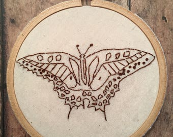 Tiger Swallowtail Butterfly Embroidery