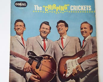 Rare Vintage 1958 The Chirping Crickets LP Vinyl Record Rock N Roll Rockabilly UK Pressing