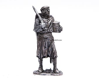 tin 54mm Figurine Crusaders. Teutonic Order. Knight 14th century