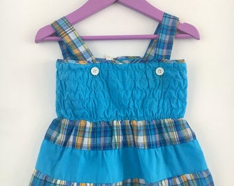 Vintage sundresses baby checked