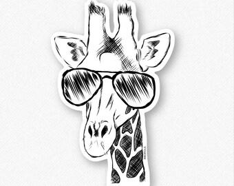 Geoffrey the Giraffe - Decal Sticker, Giraffe sticker, giraffe decal, giraffe decal sticker, cool giraffe, giraffe gift