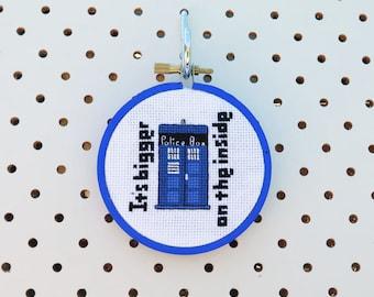 Mini Tardis Cross Stitch