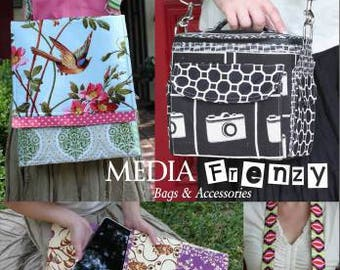 Media Frenzy Bags & Accessories Pattern Book Ipad/Camera Bag Patterns