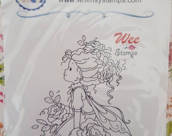 Rosetta mounted rubber stamp