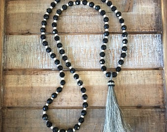 Horse Hair Tassel Necklace | Long Beaded Boho Horse Hair Necklace | Tassel Necklace | Horse Hair Tassel | Horse Hair Pendant Necklace