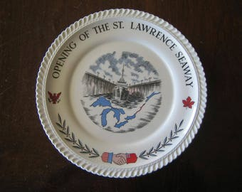 St. Lawrence Seaway Commemorative Plate - First Edition - 1959