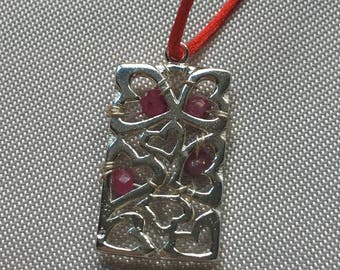 Heart and Ruby Pendant