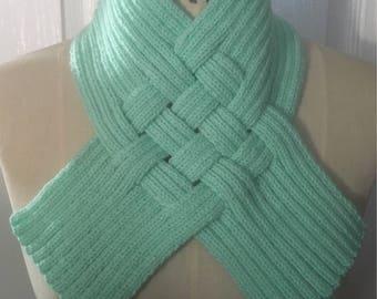 Mint Green Woven Rib Scarf