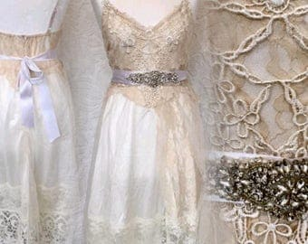 Wedding dress with veil,Vintage inspired wedding dress .Alternative wedding, Vintage wedding gowns, Fairy dresses .