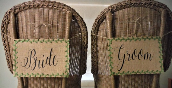 Il_570xn & BRIDE u0026 GROOM chair sashes rustic wedding decorations wedding ...