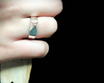 925 silver ring, Metal Spike Ring, Gothic Punk ring, Silver ring, Spike ring, 925 solid ring, Punk ring, Spike jewelry, Sterling ring