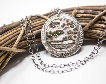 Ocean Jasper Fine Silver Necklace  - GD316