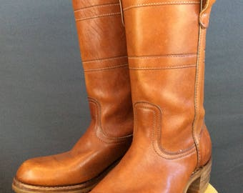 Vintage 70s Motorcycle Boots Vintage Campus Boots 11D