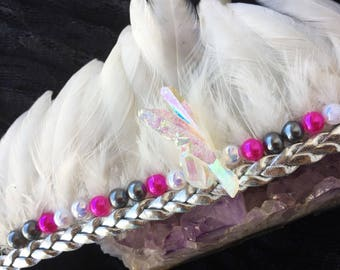 Unicorn Crown, Crystal Crown, Feather Crown, Festival Crown