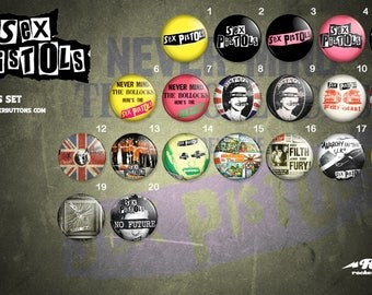 sex pistols button collection / / sex pistols badges collection