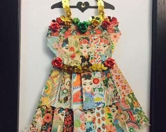 Frida Kahlo Enchanted Paper Dress!