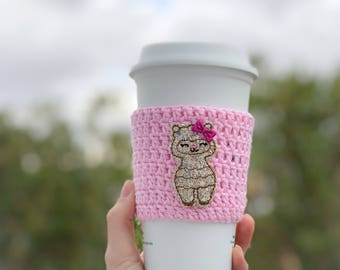 Llama cup sleeve - cup cozy - cozies - cup sleeves - coffee - planner world
