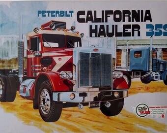 AMT866 Peterbilt California Hauler 359 1/25 Scale Plastic Model Kit
