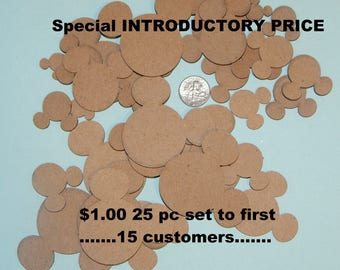 Mickey Mouse Head Chipboard Embellishments