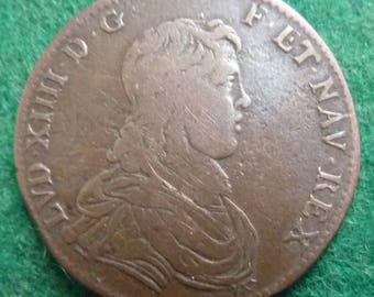 Original French Medal Of King Louis XIV. Struck Circa 1660. Mars The God Of War Depicted
