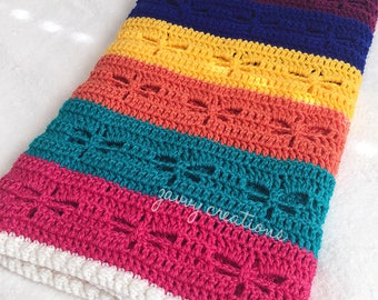 IN STOCK: Brightly Striped Dragonfly Blanket
