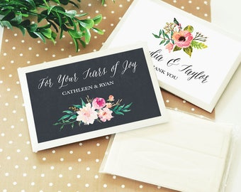 Personalized Floral Garden Tissue Packs, (Set of 24)
