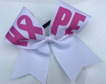 Breast Cancer Hope Cheer Bow