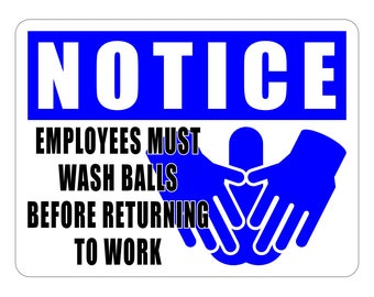 Employees Must Wash Stickers