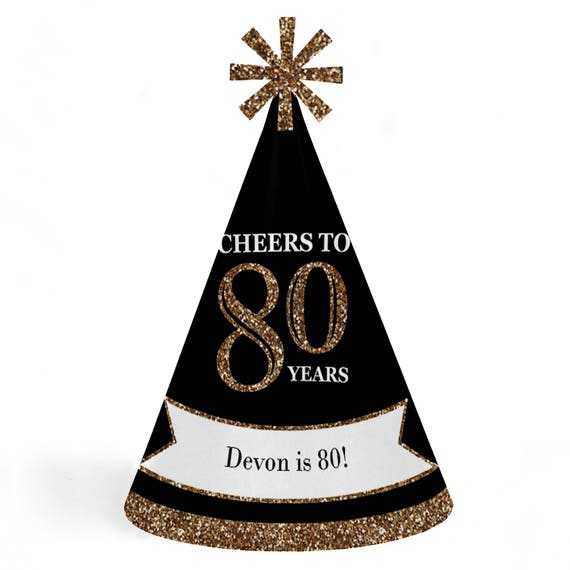 80th Birthday Party Hats