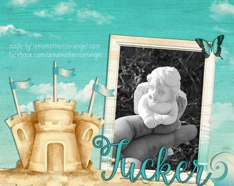 Digital Image - Building Sandcastles In Heaven Photo Image