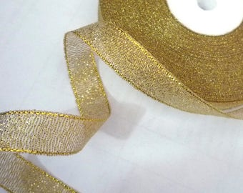 22 yards / 20 yds or 32 yards /29 mt Gold Metallic Ribbon Trim Crafts Supply Wedding Party Decoration 1/2 inch / 13 mm MR5