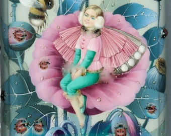 "One of a Kind Russian Lacquer Box ""Thumbelina "" by VOLODINA"