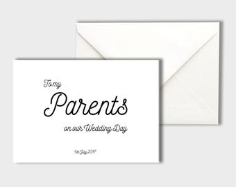 To My Parents on our Wedding Day Card