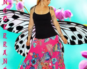 Harem pants in stretch mesh 'Pretty Peacock'...